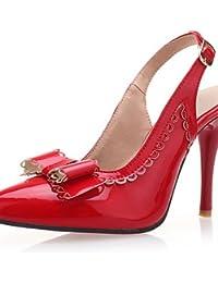 WSS 2016 Zapatos de boda-Tacones / Sandalias-Tacones / Punta Abierta-Boda / Fiesta y Noche-Negro / Rosa / Rojo / Blanco-Mujer . pink-us10.5 / eu42 / uk8.5 / cn43 . pink-us10.5 / eu42 / uk8.5 / cn43