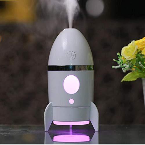 Diffusore Di Oli Essenziali Umidificatore Mini Portatile 7 Colori Led Rocket Usb Diffusore Con Spegnimento Automatico, Diffusore Di Olio Aromatico Per Ufficio Casa