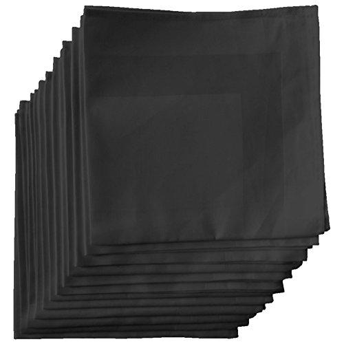 aus ägyptischer Baumwolle Set von 12 22x22 Schwarz ()