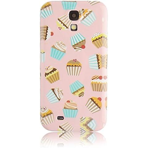JAMMYLIZARD Custodia Cupcakes per Samsung Galaxy S4 BURRO D'ARACHIDI, pellicola proteggi schermo inclusa