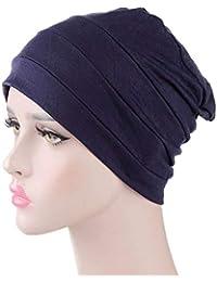 Bigood Femme Modal Coton Chapeau Léger Bonnet Chimiothérapie Turban ... 6d90d449a73