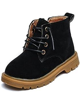 TPulling Kinder Mode Ist Nicht Schleifen Füße Herbst Und Winter Frosted Martin Stiefel Retro Leder Schuhe