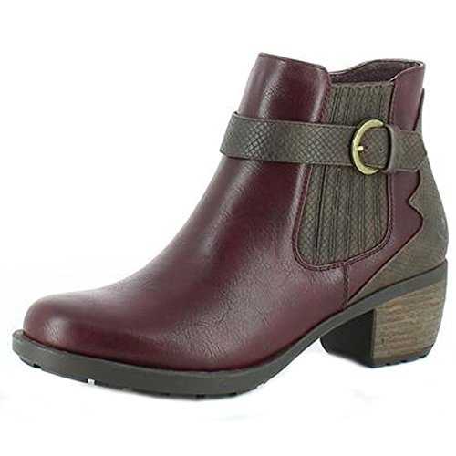 Heavenly Feet Danni Ankle Boots Berry