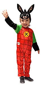 Ciao Bing Coniglietto Costume Bambino, 2-3 Anni Unisex, Rosso, Nero, 11280.2-3