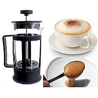 Espumador de leche de cristal para café con leche y capuccino