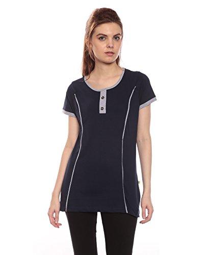 Goldstroms Long Maternity/Feeding/Nursing Tee with Vertical Zipper