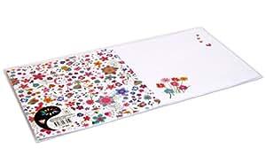 Clairefontaine Pollen 27305C Pack de 10 Papier Cartonné Carte Double Pré Pliée/Imprimée 32 x 16 cm Fleurs Liberty