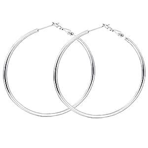 Style Tweak Silver Plated Hoop Earring for Women