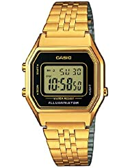Casio Unisex-Armbanduhr Casio Collection Digital Quarz Edelstahl LA680WEGA-1ER