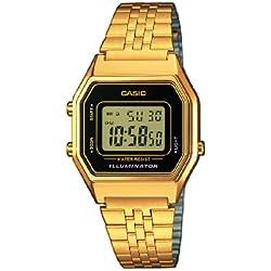 Casio Collection – Reloj Mujer Correa de Acero Inoxidable LA680WEGA-1ER