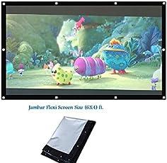 Jambar Eyelet Projector Screen Size ( 6 X 4 ) Foldable