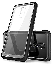 SupCase OnePlus 6T Hülle, OnePlus 7 Case Hybrid Transparent Handyhülle Premium Schutzhülle Backcover [Unicorn Beetle Style] Kompatibel mit OnePlus 6T / OnePlus 7 (Schwarz)