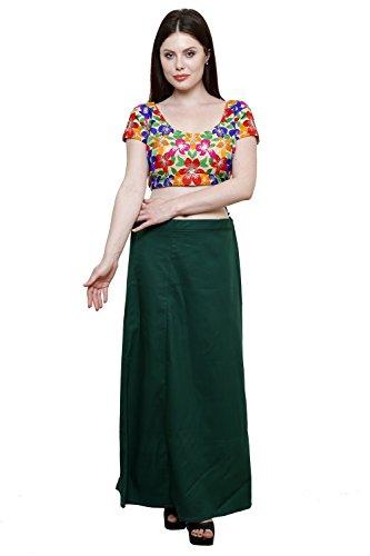 Pistaa Women's Cotton Dark Green Colour Best Indian Inskirt Saree petticoats