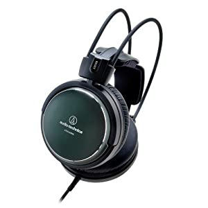 Audio-Technica ATH-A990Z Geschlossener HiFi Ausinės kräftiges dunkelgrün-metallic Finish