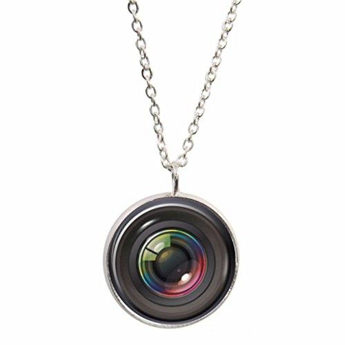 Kamera Objektiv Design Anhänger mit Silber vergoldet Halskette in Geschenkbox - Objektiven Slr-kamera Mit Nikon