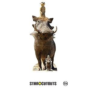 Star Cutouts SC1394 Timon and Pumbaa Live Action - Figura de Warthog y Meerkat de cartón oficial para fiestas del Rey León, fanáticos, coleccionistas y eventos, multicolor