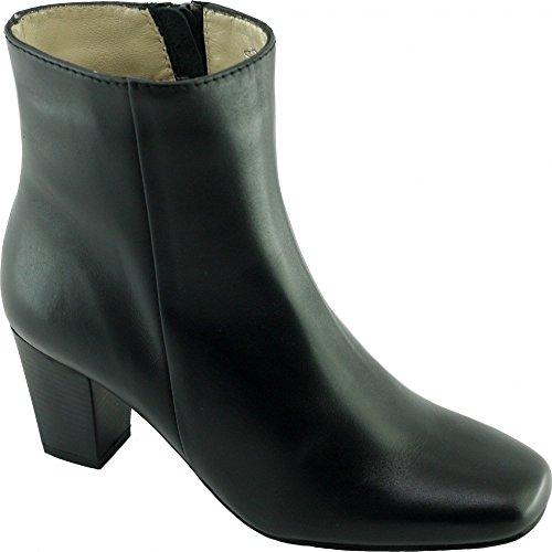 Escarpins d'Hotesses Pulkovo Alarm Free Boots Noir Bout carré & Stable - Petites Et Grandes Pointures