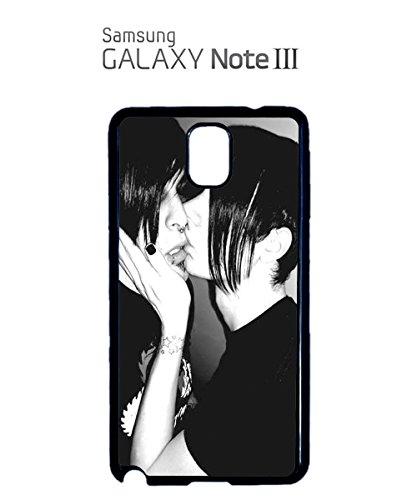 Emo Gays Kissing Kiss Sexy Gay Rainboy Teens Mobile Phone Case Samsung Note 3 White Blanc