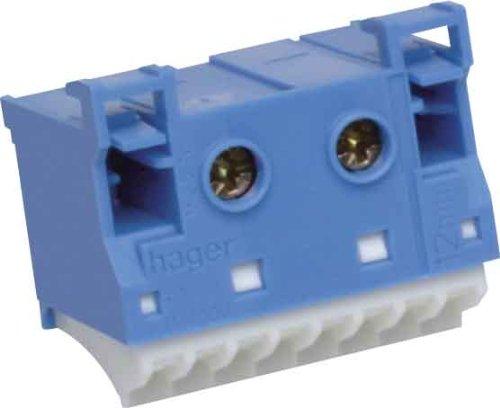 Preisvergleich Produktbild Hager Quick Connect–Steckdosenleiste Neutral 2x 25mm2+ 8x 4mm2