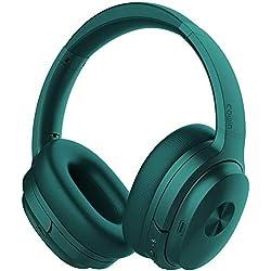 cowin SE7 Casque Bluetooth 5.0 Réduction de Bruit Active sans Fil Micro Intégré/Aptx Casque Pliable 30 Heures d'Autonomie pour Le Travail/Le Voyage (Vert)