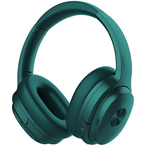 Cowin SE7 Auriculares inalámbricos Bluetooth con micrófono Hi-Fi de Graves Profundos, (Hi-Res Audio, cancelación de Ruido, Bluetooth,30 Horas de autonomía) (Verde)
