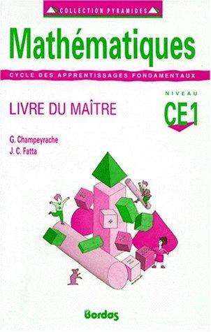 Mathématiques, CE1. Livre du maître
