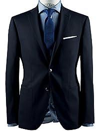 Bar utti–Tailored Fit–Hombre Blazer/Viaje Chaqueta en azul, 90080093587004(Taddeo P UK AMF)