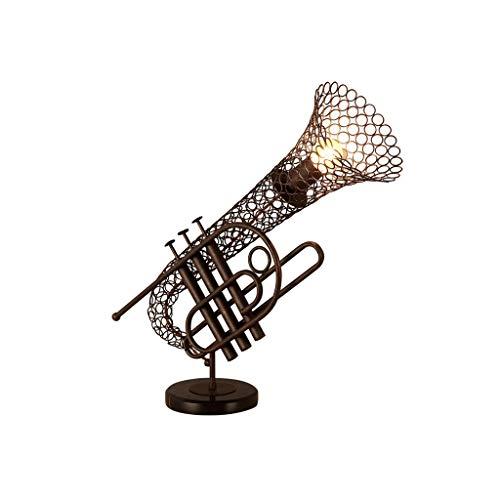 EU13 Nordic kreative lampe schmiedeeisen flugelhorn form retro lampe tischlampe wohnzimmer nachttischlampe nachtlicht kronleuchter tischlampe