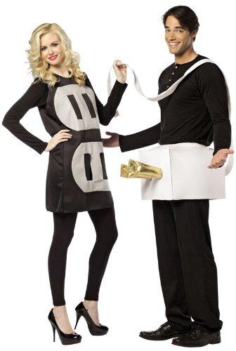 Rasta Imposta 7233 Schwarz-weißes leichtes Kostüm für Paare Stecker und Steckdose (Standard) (Stecker Steckdose-kostüm Und)