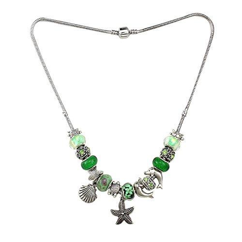 Designer Damenkette mit Seestern Anhänger Freizeit Accessoire Strandkette Date Schmuck Dekolleté Outfit Choker Halskette