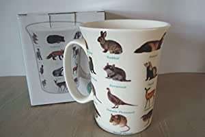 British Wildlife Vareties Fluted Fine China Mug in a Gift Box by The Leonardo Collection