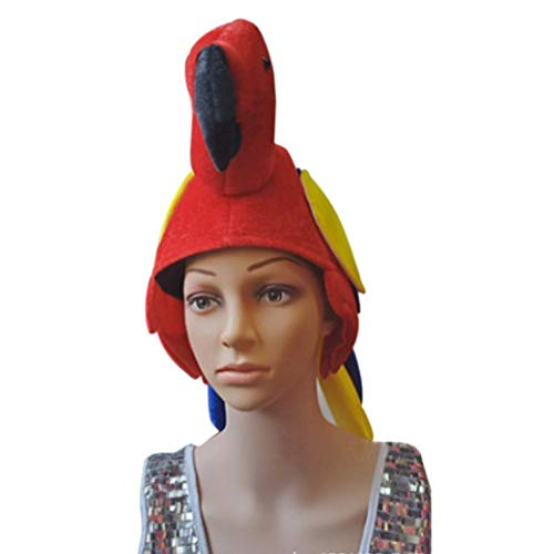 kengbi Papagei Hüte , Vogel Kostüm Hut Junggesellenabschied Tanzparty Leistung Tier Styling Cap Big Bird Hat Party Supplies