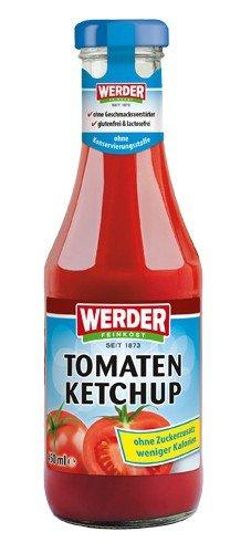 """Werder Tomatenketchup """"Ohne Zuckerzusatz"""" 450 ml"""