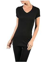 Hollywood Star Fashion - Camiseta de manga corta con cuello en V 2ad33b29d56a6