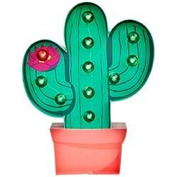 Lámpara cactus de cartón con LED