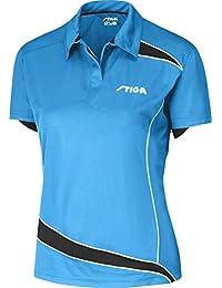 Ropa de tenis de mesa: Discovery - Diva Stiga camiseta azul/negro Lady compatible con forro polar para mujer