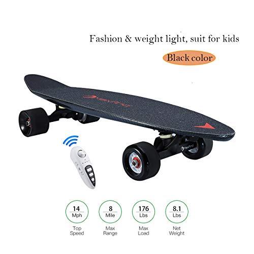 Skate Électrique Longboard Skateboard Électrique, 27 '4 Roues Électrique Scooter Hub Motor 500W avec Télécommande pour...