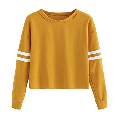 Dasongff Damen Langarmshirt Teenager Mädchen Kapuzenpullover Kurz Hoodie Sweatshirt Crop Pullover...