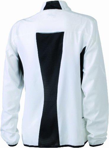 &james nicholson veste de course pour femme Blanc (white/black)
