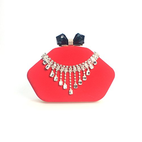 Chers diamond diamond tassel sac sac de soirée velours sac banquet bride holding sac du soir