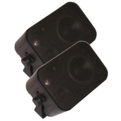 XTC LSM1-BL 3-Wege Stereo Kompakt Lautsprecher Schwarz Paar