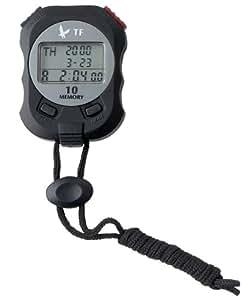 Chronomètre de couleur noir avec 3 lignes d'affichage, mémoire de 10 tours - Visiodirect -