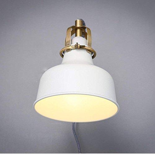 HAIZHEN American Country Style Loft Industrial Style Wandleuchte Schlichte weiße Rocker Retro Wohnzimmer Schlafzimmer Wand Lampe Nachttischlampe (Der Weiße Country-rocker)