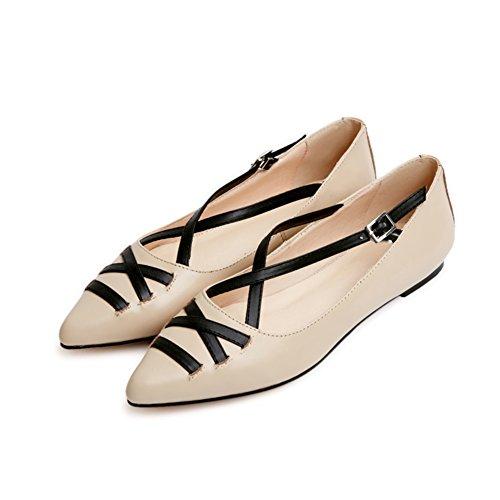 Casual piatta scarpe estuario in poco punta da profondo A scarpe donna primavera Coreano 5Zwx1qpS88