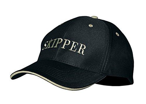 Modas Baseball-Cap mit Schriftzug, Aufdruck:Skipper