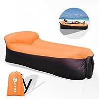 Hinterhof Strand Unbekannt Aufblasbares Sofa,NewMum Wasserdichtes Aufblasbarer Sitzsack mit Integriertem Kissen f/ür Sich Sonnen Tragbar Air Betten Schlafen Sofa Couch