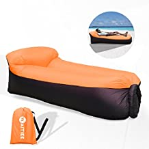 Waitiee impermeable portátil inflable sofá con almohadilla integrada, sofá de aire inflable tumbona, ...