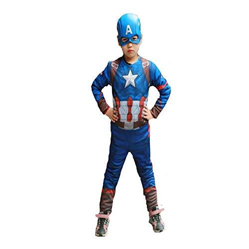 Hhalibaba Superhéroe Niños Músculo Capitán América