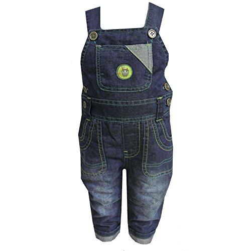 Jacky - Baby Thermohose Latzhose Jungen mit Eule, jeans - 68jeans