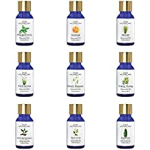 Sage Apothecary Essential Oil Combo 9 in 1 pack (Vetiver, Orange, Peppermint, Cypress, Jasmine, Wintergreen, Ylang-Ylang, Black Pepper & Palmarosa)│100% pure